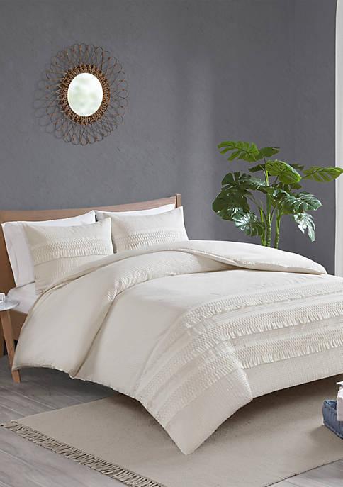 Madison Park Amaya 3 Piece Cotton Seersucker Comforter