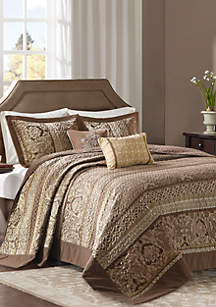 Madison Park Bellagio 5 Piece Reversible Jacquard Bedspread Set