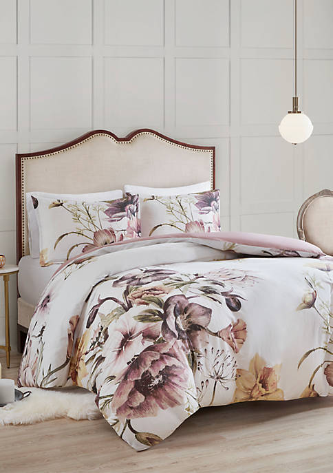 Madison Park Cassandra 3 Piece Cotton Printed Duvet