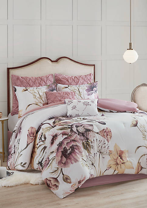 Madison Park Cassandra 8 Piece Cotton Printed Comforter