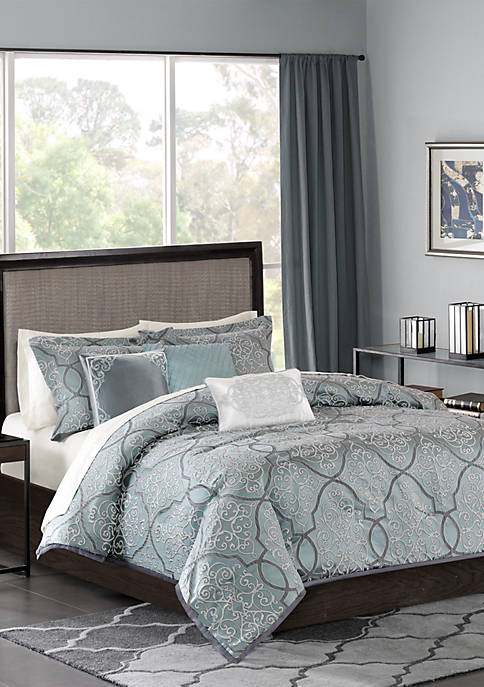 Madison Park Lavine 6 Piece Jacquard Duvet Cover