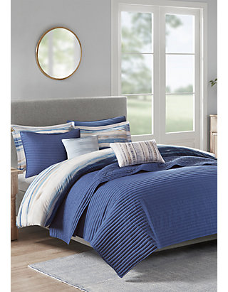 Madison Park Marina 6 Piece Quilted Coverlet Set