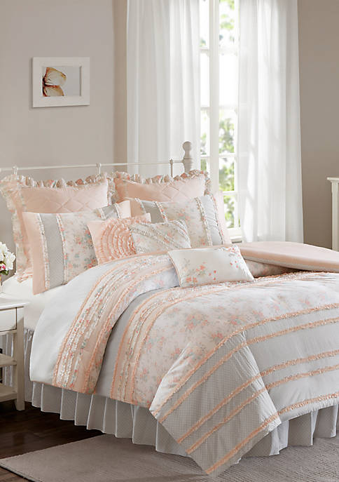 Madison Park Serendipity Cotton Percale Duvet Cover Set