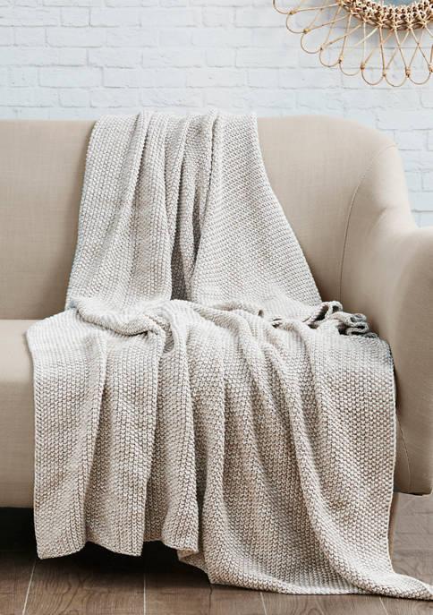 Intelligent Design Briar Cotton Knit Throw