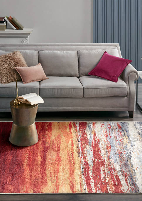 Madison Park Aurora Printed Matte Area Rug