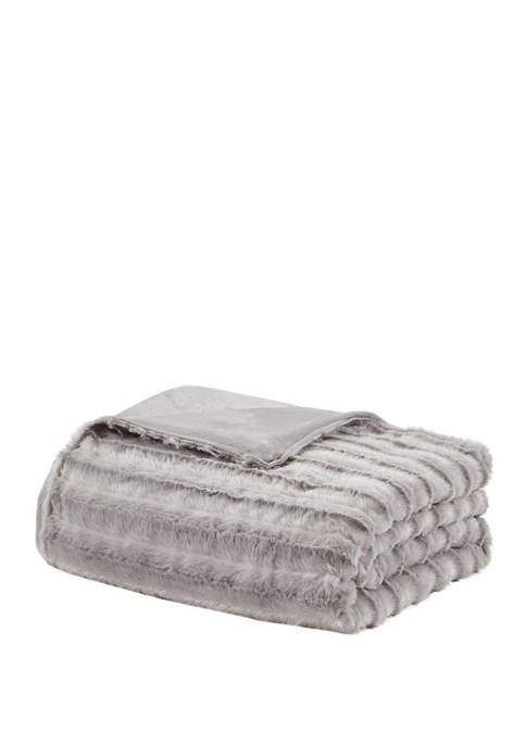 Beautyrest Duke Faux Fur 18 lb Weighted Blanket