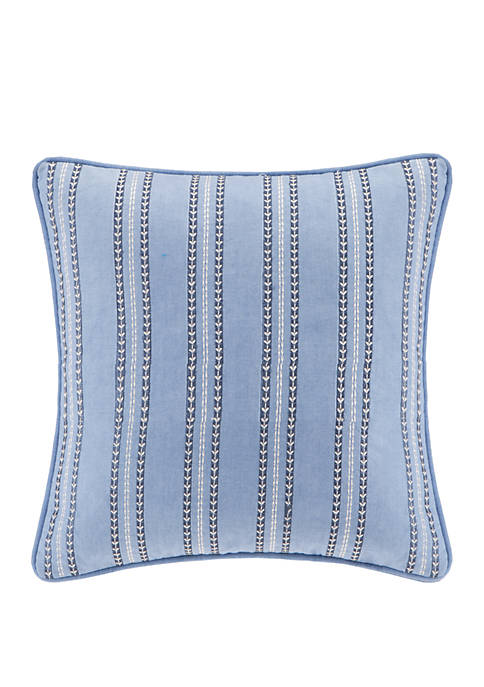 Kamala Striped Embroidery Square Pillow