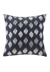 Nadia Dot Navy Embroidered Decorative Pillow