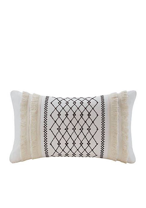 INK + IVY® Bea Embroidered Cotton Oblong Pillow