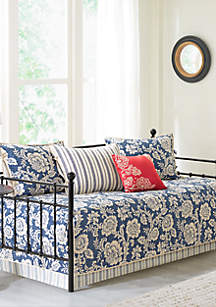 Lucy 6-Piece Cotton Twill Reversible Daybed Set - Navy
