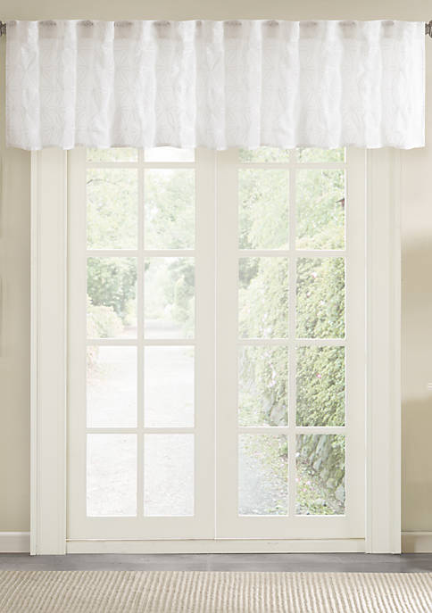 Madison Park Gemma Sheer Embroidered Window Valance