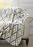 Oversized Plus Ikat Diamond Throw