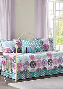 Carly Reversible 6 Piece Daybed Set in Purple