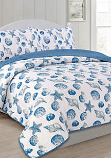 Panama Jack® Seashells Full/Queen Quilt Set