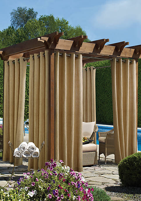 Commonwealth Home Fashions Raffia Grommet Top Outdoor Panel