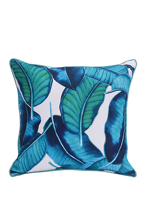 Commonwealth Home Fashions Aqua Tropical Decorative Pillow