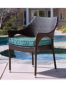 Commonwealth Home Fashions Aqua Tropical Pool Side Cushion