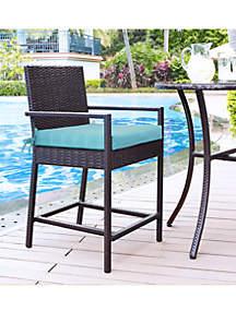 Commonwealth Home Fashions Aqua Tropical Arm Chair Cushion