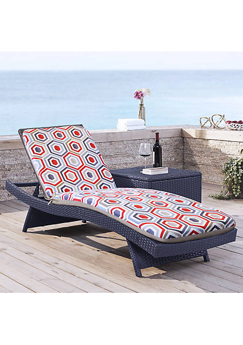 Cool Geo High Back Patio Cushion