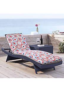 Commonwealth Home Fashions Cool Geo High Back Patio Cushion