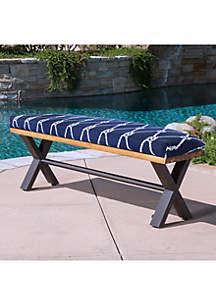 Commonwealth Home Fashions Nautical Bench Seat Patio Cushion