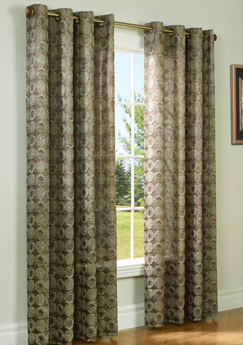 Commonwealth Home Fashions Mayan Grommet Top Panel Curtains