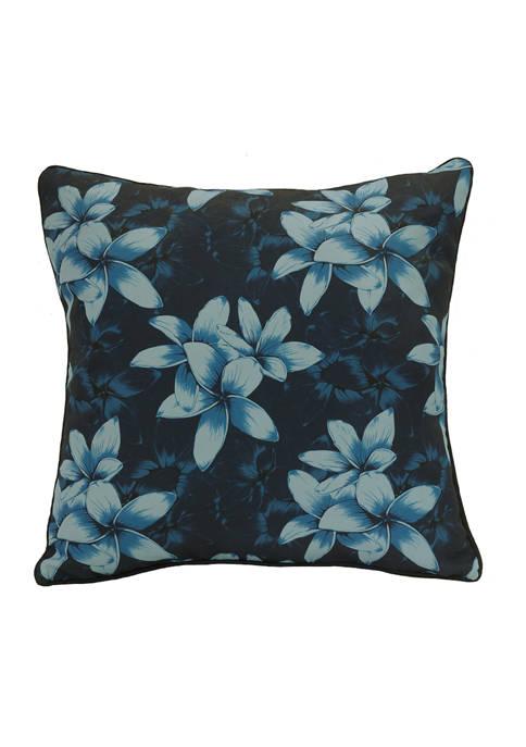 Urban Chic Blue Lilies Patio Cushion