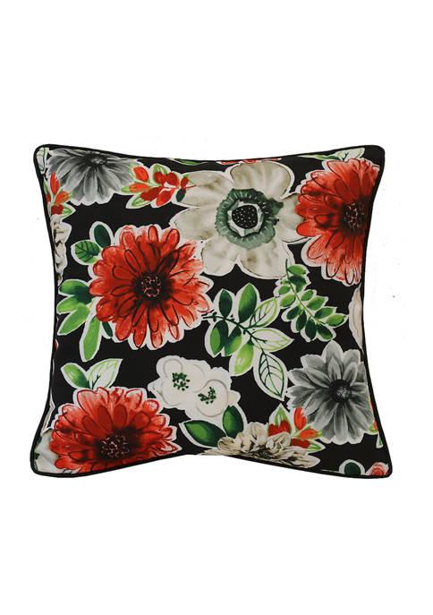 Refined Palms Floral Bouquet Patio Cushion