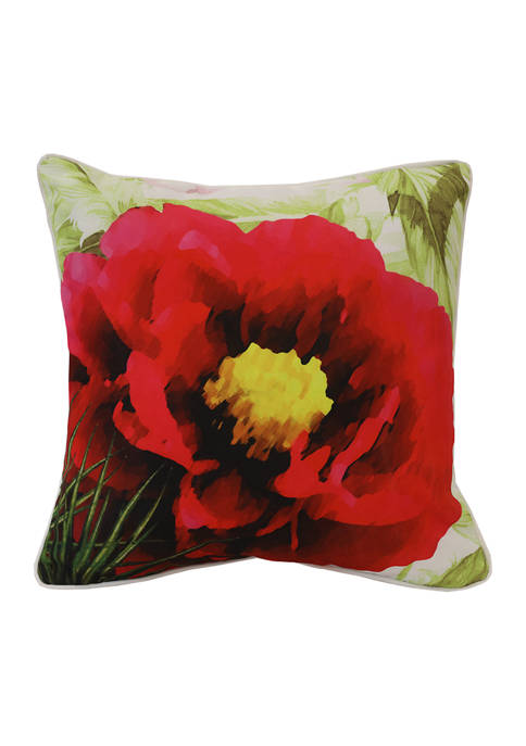 Commonwealth Home Fashions Refined Palms Red Rose Patio