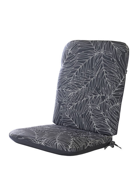 Commonwealth Home Fashions Refined Palms High Back Cushion