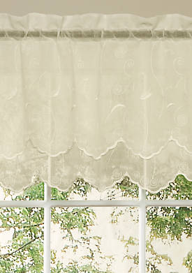 Hathaway Double Scalloped Valance 54-in. x 17-in.