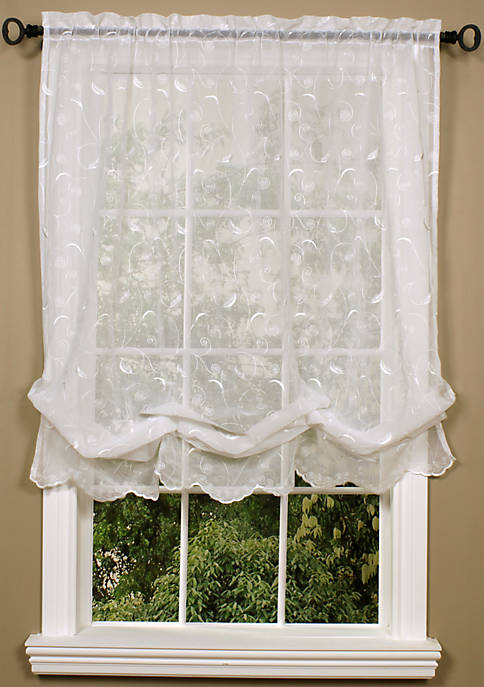 Commonwealth Home Fashions Hathaway Balloon Curtain 54-in. x