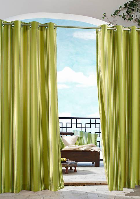 Commonwealth Home Fashions Gazebo Stripe Outdoor Window Panel