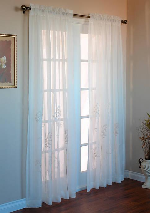 Hydrangea Window Panel 54-in. x 84-in.