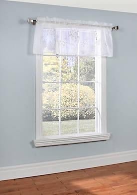 Hydrangea Valance Window Panel 54-in. x 18-in.