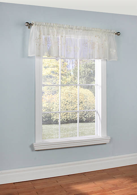 Commonwealth Home Fashions Hydrangea Valance Window Panel 54-in.