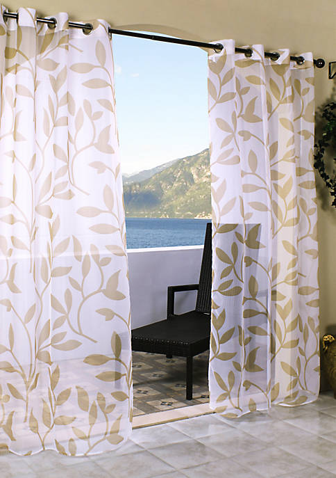Commonwealth Home Fashions Escape Leaf Outdoor Window Panel