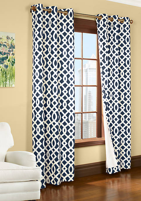 Commonwealth Home Fashions Trellis Window Panel 63-in. x