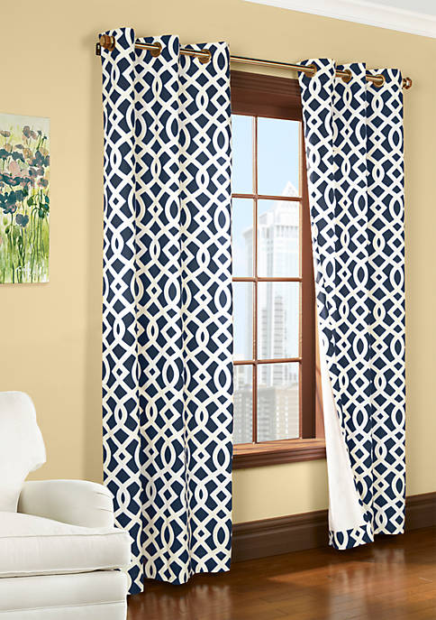 Commonwealth Home Fashions Trellis Window Panel 84-in. x