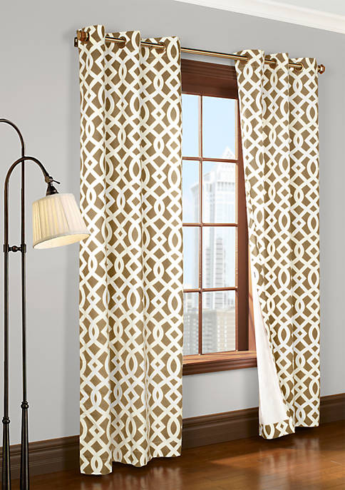 Commonwealth Home Fashions Trellis Window Panel 95-in. x