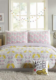 Hello! Lucky by Makers Collective Tiger Flower Quilt Set