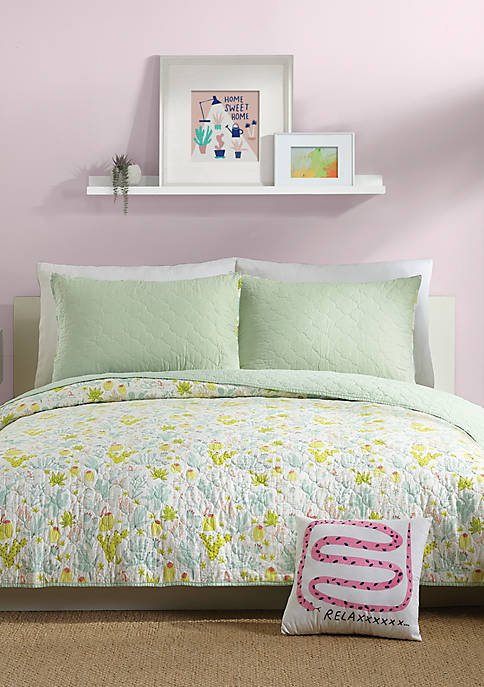 Hello! Lucky by Makers Collective Cacti Quilt Set
