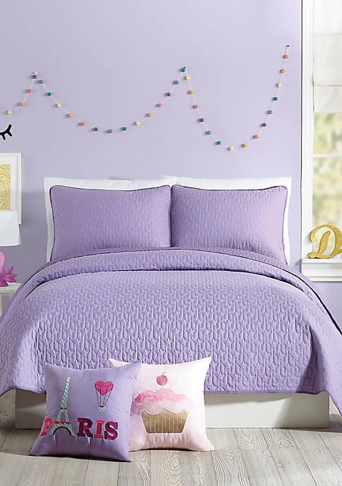 Coty Purple Quilt Set