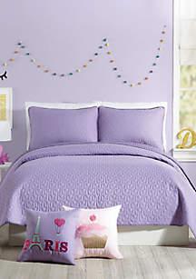 Urban Playground Coty Purple Quilt Set