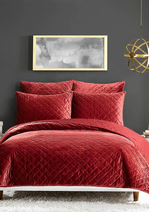 Modern Heirloom Poly Velvet Quilt Set