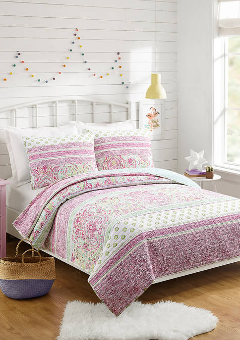 Jessica Simpson Palm Beach Paisley Quilt Set