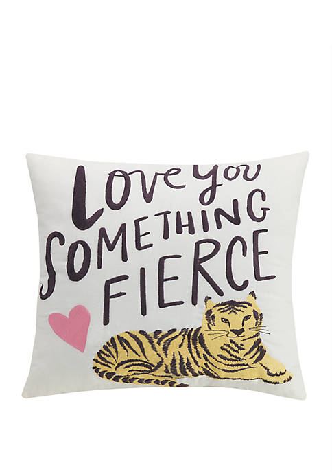 Hello! Lucky by Makers Collective Fierce Decorative Pillow