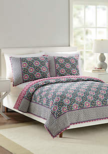 Floral Medallion King Quilt