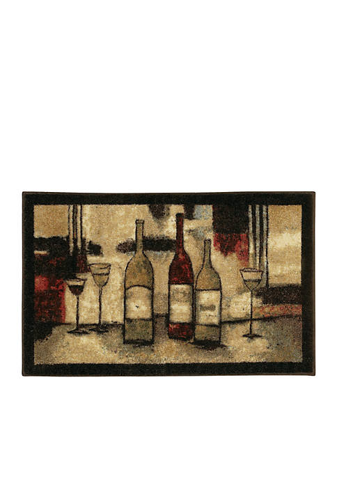 Wine And Glasses Printed Rug