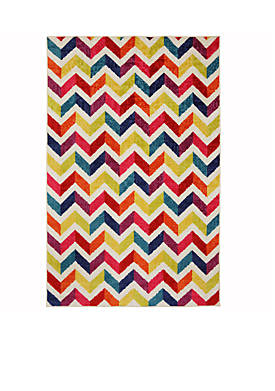 Mixed Chevrons Prism Area Rug 5 x 8